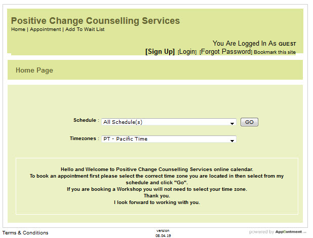 Positive Change Counselling Services